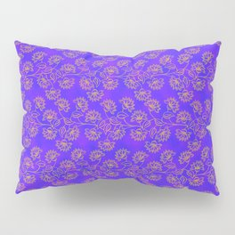 Georgian Floral Gold on Purple Pillow Sham