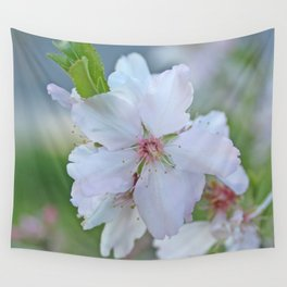 Almond tree flower blooming Wall Tapestry