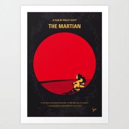 No620 My The Martian minimal movie poster Art Print