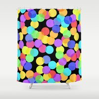 confetti Shower Curtains featuring Confetti by The Wellington Boot