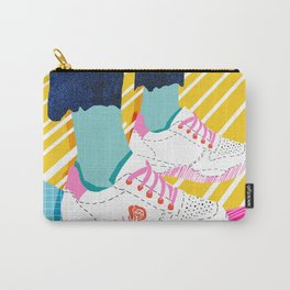 Butter - throwback 80s style vibes shoes fashion sneakers 1980's trend memphis art Carry-All Pouch