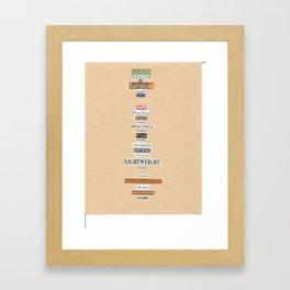Good Design Framed Art Print