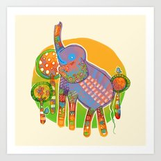 The Quilted Jungle Art Print
