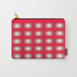 reddish square with white squares inside Carry-All Pouch
