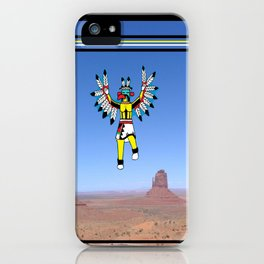 Eagle Kachina Over Monument Valley iPhone Case