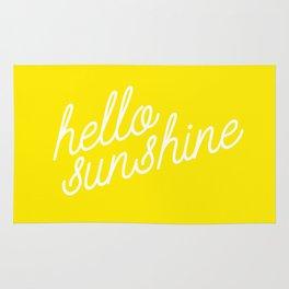 Hello Sunshine Script Rug