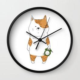 Morning Cat I Wall Clock