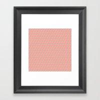 80's Pastel Stripes on Pink  /// www.pencilmeinstationery.com Framed Art Print