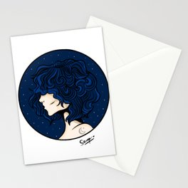 Lady Moon Stationery Cards