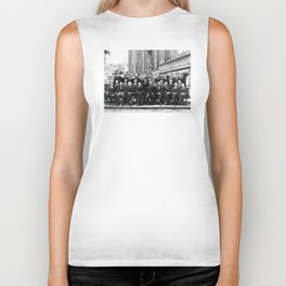 World-Renowned Physicists of 1927 at Solvay Conference Biker Tank