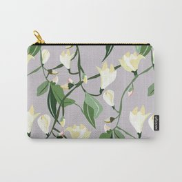 Magnolias Budding and Blooming in Lavender Carry-All Pouch