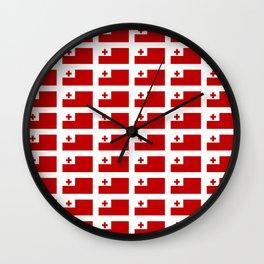 Flag of Tonga -Tonga,Tongatapu,Nukuʻalofa,Tongan,pa'anga,Vava'u, Ha'apai, Tongatapu. Wall Clock