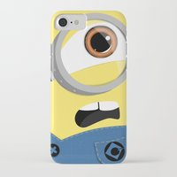 minion iPhone & iPod Cases featuring Minion by Janice Wong