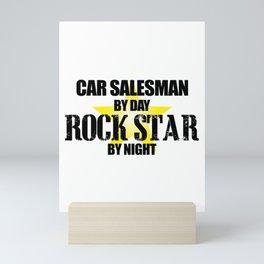 Rock Star Car Salesman Mini Art Print