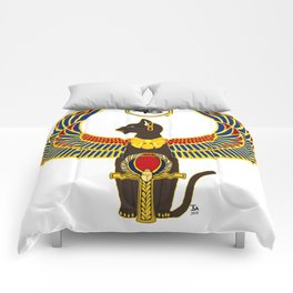 Winged Bast w/Ankh Comforters