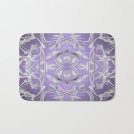 silver in purple Digital pattern with circles and fractals artfully colored design for house Bath Mat