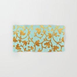 Golden Damask pattern Hand & Bath Towel