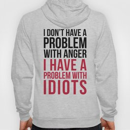 Problem With Idiots Funny Quote Hoody