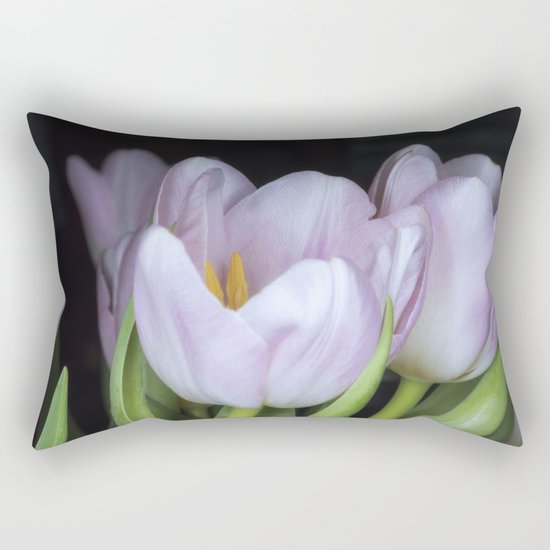 Pink Tulips Rectangular Pillow