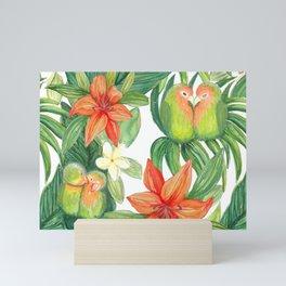 Jungle Tropical Watercolor Greenery Botanical Mini Art Print