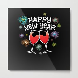Happy New Year 2021 - New Years Ever Party NYE Metal Print