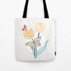 Butterflies and Tulips III Tote Bag