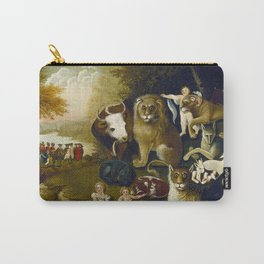 Classical Masterpiece 1833 'A Peaceable Kingdom' by Edward Hicks Carry-All Pouch