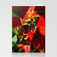 polygon Stationery Cards featuring polygon chaos by Matthias Hennig