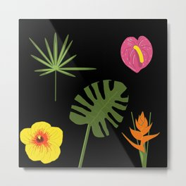 Jungle / Tropical Pattern Metal Print