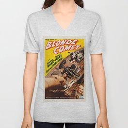 Vintage poster - Blonde Comet Unisex V-Neck
