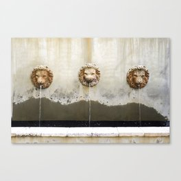 Three Lions Fountain Canvas Print