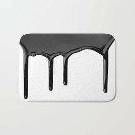 Black paint drip Bath Mat