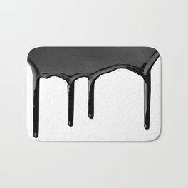 Black paint drip Bath Mat