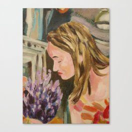 Oak Bay Flower Market Canvas Print