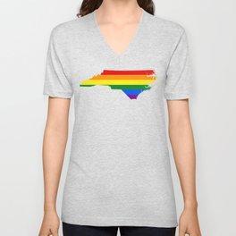 Gay Pride North Carolina (LGBT) Unisex V-Neck