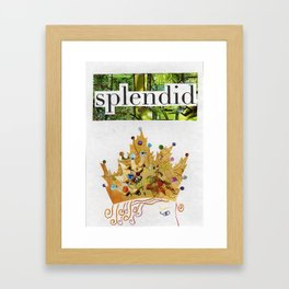 Royal Congratulations and Thank You Framed Art Print