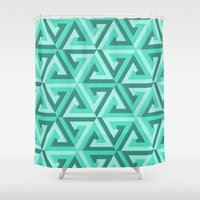 lv Shower Curtains featuring Geometrix LV by Warwick Wonder Works