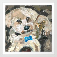charlie Art Prints featuring Charlie by Maritza Hernandez