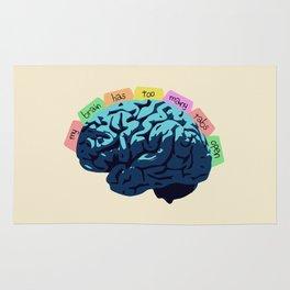 My Brain Has Too Many Tabs Open Rug