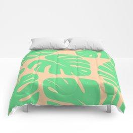 Monstera Leaf Print 3 Comforters