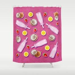 Summer fruit pink Shower Curtain