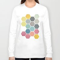 honeycomb Long Sleeve T-shirts featuring Honeycomb II by Cassia Beck