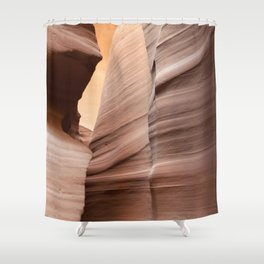 Movement in Lower Antelope Canyon Shower Curtain