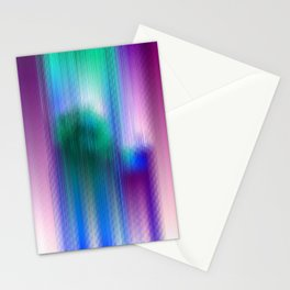 Glitchy Tiles - Abstract Pixel art Stationery Cards