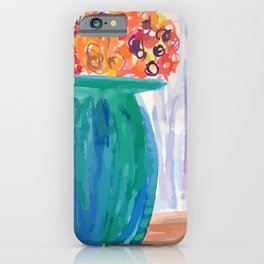 Potted Flowers Watercolor iPhone Case