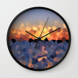Sunset at the Lake Wall Clock