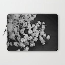 Baby's breath black and white Laptop Sleeve