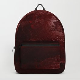 Halloween. Bloody mess and hand traces. Creepy Backpack