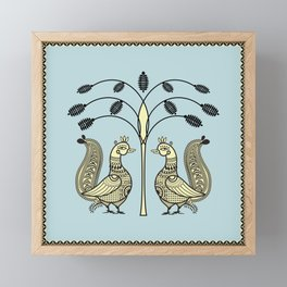 Ethic Art Indian Ducks with tree Framed Mini Art Print