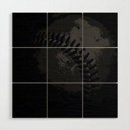 Baseball Illusion Wood Wall Art